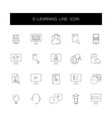 line icons set e-learning pack vector image vector image