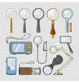 magnifying glass magnification zoom and vector image vector image