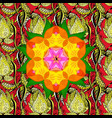 mandala colored round ornament pattern on a vector image vector image