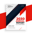 modern geometric red annual report business vector image