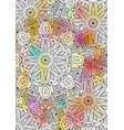 multicolored book sheet book cover mandala vector image vector image