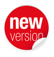 new version label tag red vector image vector image