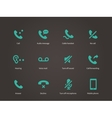 Phone and communication icons set vector image
