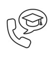 phone call to university linear icon vector image vector image