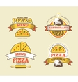 Pizza labels logos badges emblems for vector image vector image