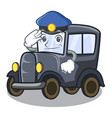 police old car in shape character vector image
