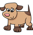 puppy cartoon character vector image vector image