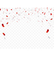 red white design 2019 confetti concept 17 august vector image vector image