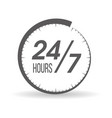 round clock vector image vector image