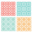 seamless geometric line pattern in chinese style vector image vector image