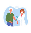 senior people vaccination medical campaign old vector image