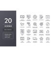 seo line icons vector image vector image