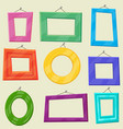 set cartoon picture frames vector image