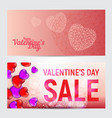 set happy valentines day greeting cards or vector image vector image