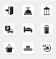 set of 9 editable motel icons includes symbols vector image