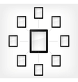 set of tablet pc vector image vector image