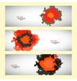 set of three colored abstract spots vector image