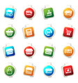 shop icons set vector image vector image