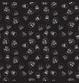 skulls pattern dark seamless texture vector image