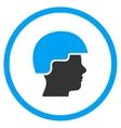 Soldier Helmet Icon vector image vector image