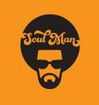 Soul man retro vector image