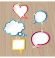 speech bubbles on wood texture vector image