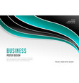 stylish wavy business presentation template design vector image vector image