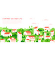 summer cityscape in simple minimal geometric flat vector image vector image