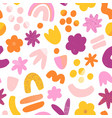 super fun abstract seamless pattern vector image vector image