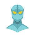 superhero in flat cartoon style vector image vector image