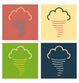 tornado icon simple of tornado icon for web fast vector image vector image