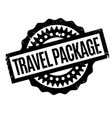 travel package rubber stamp vector image vector image