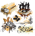 urban funk design elements vector image vector image