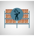 warehouse box worker design icon vector image vector image
