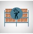 warehouse box worker design icon vector image