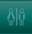 wc toilet line icon men and women sign for vector image vector image