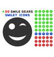 wink smiley icon with bonus facial clipart vector image
