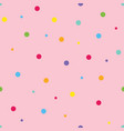 pink seamless pattern background with dots vector image