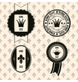 king royal labels vector image