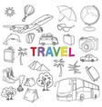world travel set vector image