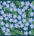 abstract floral seamless pattern flower spring vector image vector image