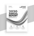 abstract white annual report business brochure vector image