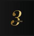 anniversary company logo 3 year three gold