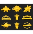 award ribbon with gold star vector image vector image