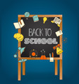back to school concept back to school calligraphic vector image