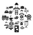 backing icons set simple style vector image vector image