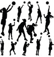 basketball woman player vector image vector image
