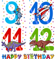 birthday cartoon design for boy vector image vector image