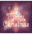 Bright Christmas card with bunny vector image vector image
