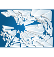 broken ice on blue water vector image vector image